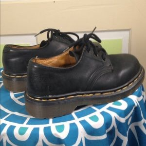 DOC MARTENS loafers BLACK LEATHER SIZE 13 child